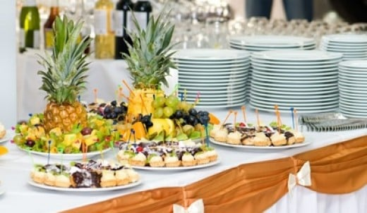 BUFFET TABLE SETTING & Restaurant Service : EXAMPLES OF TABLE SETTING PICTURES AND PROCEDURES