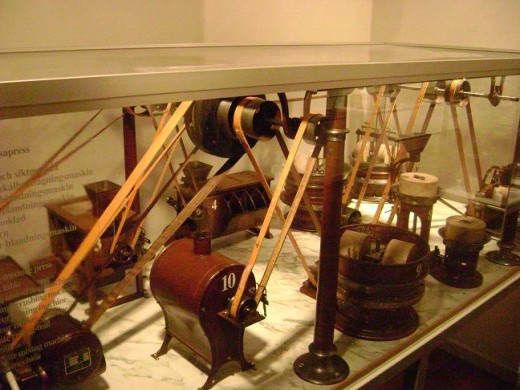 Different machines used to make chocolate