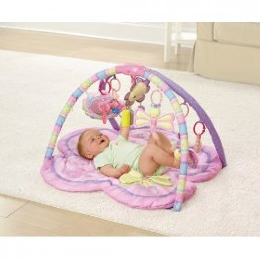 Pink baby play gym from Bright Starts