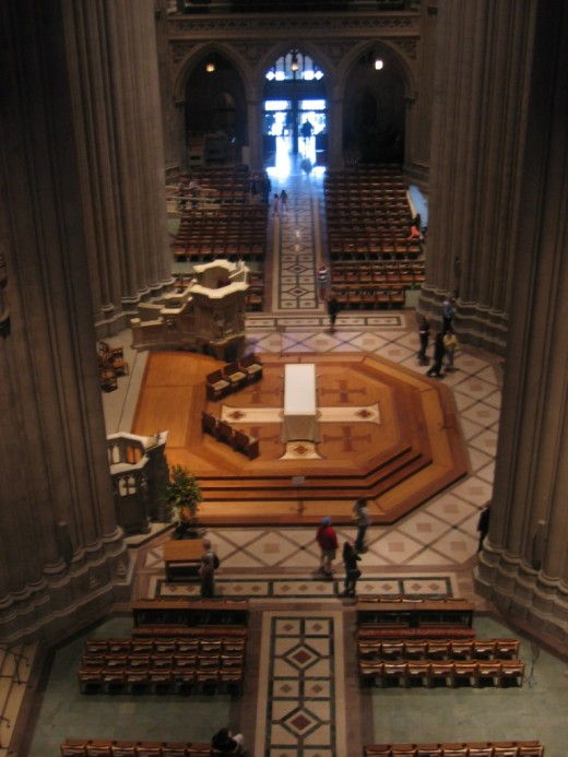 Nave of the Washington National Cathedral