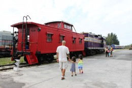engine & caboose you can ride on - we rode the caboose!