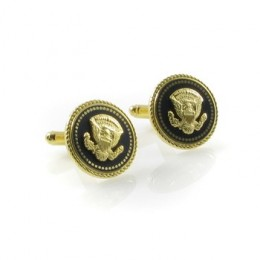 JFK Cuff Links with Regal Eagle and Blue and Gold
