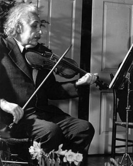 """Einstein once said that had he not been a scientist, he would have been a musician. """"Life without playing music is inconceivable for me,"""" he declared. """"I live my daydreams in music. I see my life in terms of musicI get most joy in life out of music."""""""