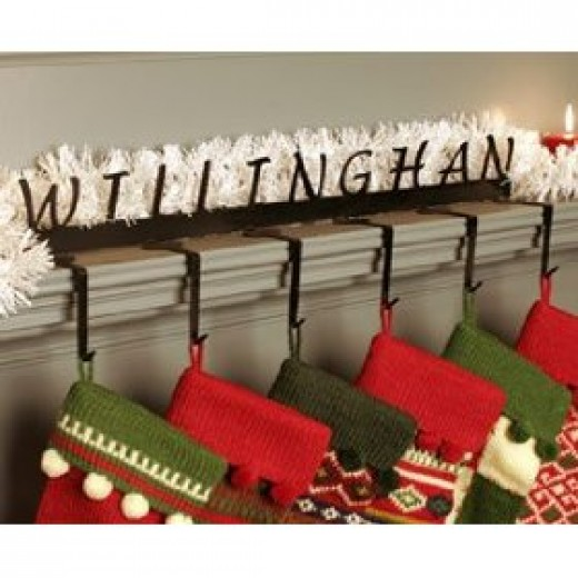 How to find a personalized christmas stocking holder for Brass stocking holders fireplace