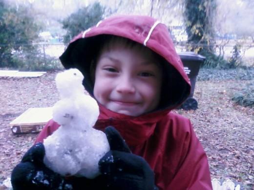 Yea! Snow in Houston!