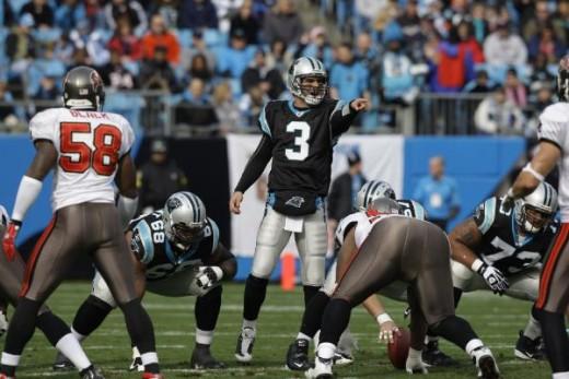 Carolina Panthers QB Matt Moore (AP Photo/Chuck Burton)