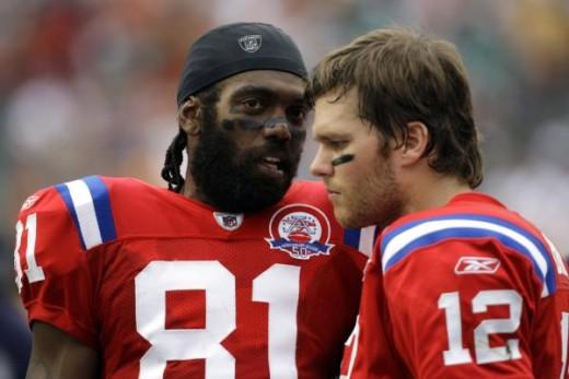 Randy Moss and Tom Brady (AP Photo/Lynne Sladky)