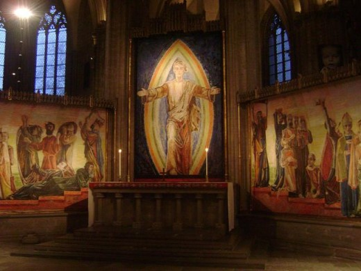 Beautiful paintings inside the Linkoping Cathedral