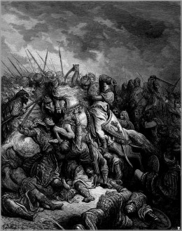 THE THIRD CRUSADE ENGRAVING BY GUSTAVE DORE
