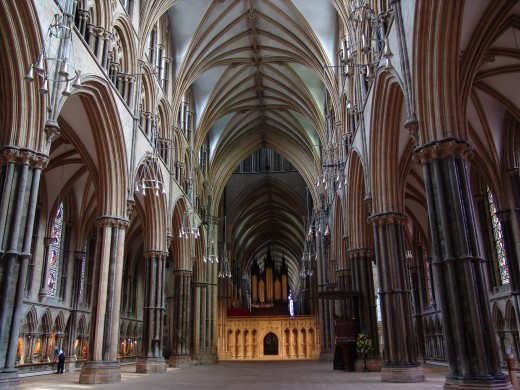 LINCOLN CATHEDRAL IN ENGLAND . . . THE MOST BEAUTIFUL OF ALL IN MY OPINION