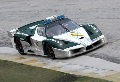 They even had a Guardia Ferrari until one of them wrote it off last week!