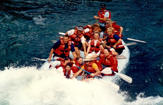 "Our group about to enter the whitewater...called ""The Lunch Counter"""