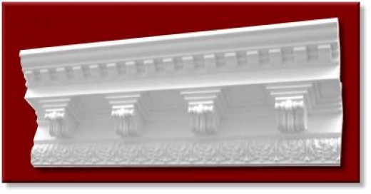 "16"" wide polyurethane crown molding"