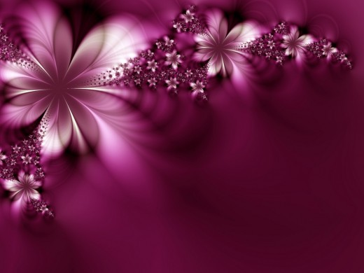 Pink flowers against a purple background