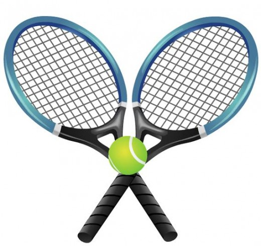Crossed tennis rackets clipart