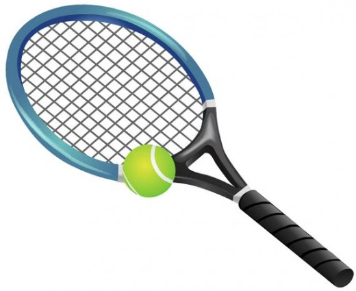 Tennis racket and tennis ball clip art