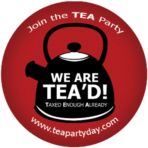 Anti-Tax Tea Party Sign