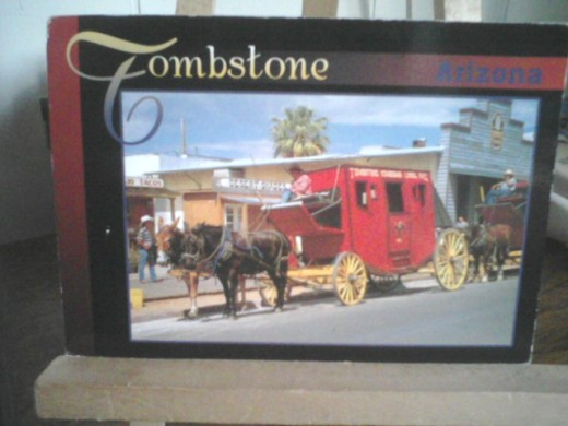 This is Tombstone's stage coach line that stills run every day for a fee.