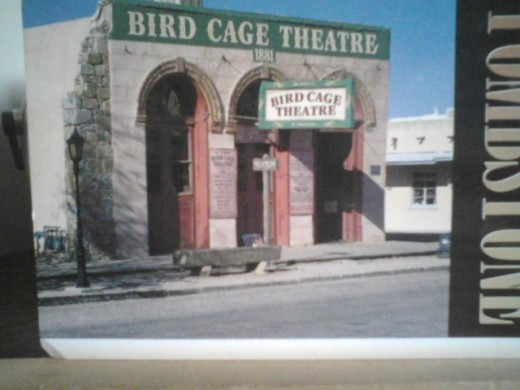 The infamous Bird Cage Theater, once housed the bird cages where the prostitute performed their acts hanging form the ceiling of the Bird Cage Theater.
