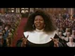 """I Will Follow Him""  Whoopi Goldberg; A Song From The Film: ""Sister Act"" (1992) Original Single by Little Peggy March (1963)"