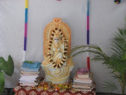 A 'puja' at our neighbour's place.well... I am the priest for this 'puja' !!