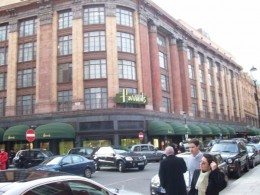 Harrods is so huge, it takes up at least one city block!