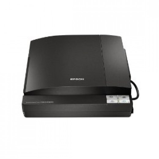 Black Epson photo scanner