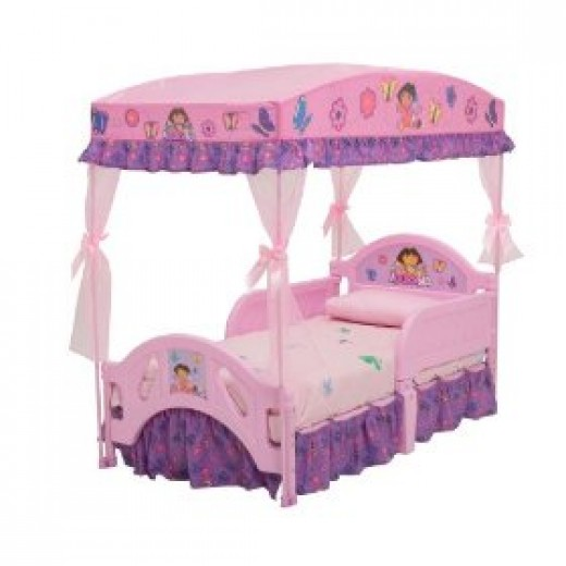 Dora Explorer canopy bed