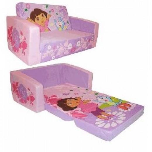 Dora Explorer flip open sofa bed
