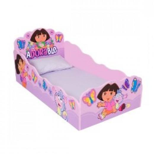 Dora the Explorer wooden toddler bed