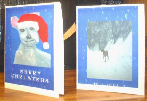 I like to make my own Christmas cards.