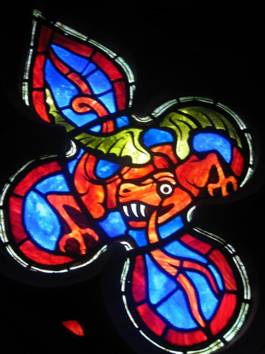 Stained Glass Dragon inside the National Cathedral