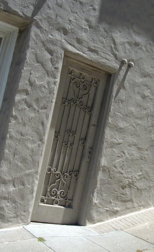 Iron grill door