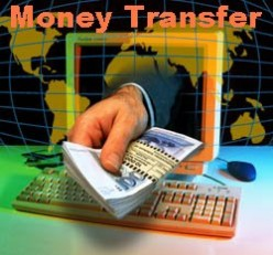 Using the internet for money transfers