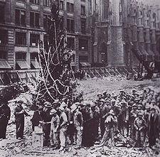 First Christmas tree in Rockefeller Center.  Public Domain