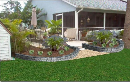 Lawn care marketing technique to promote your latest landscaping or hardscape project.