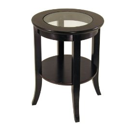 Round end tables are available in different colours