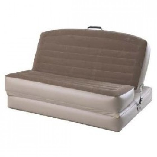 Aerobed convertible inflatable sofa bed