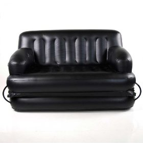 black inflatable sofa bed