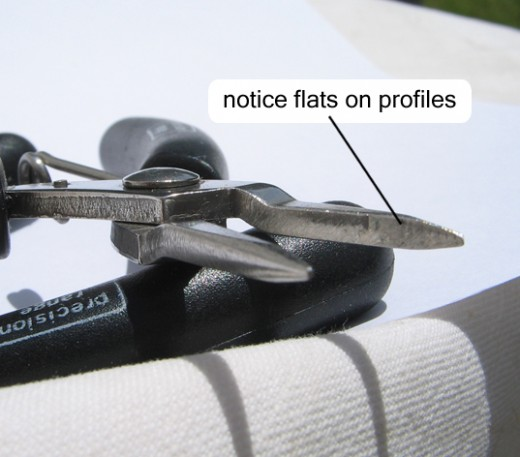 Flat nose pliers profile