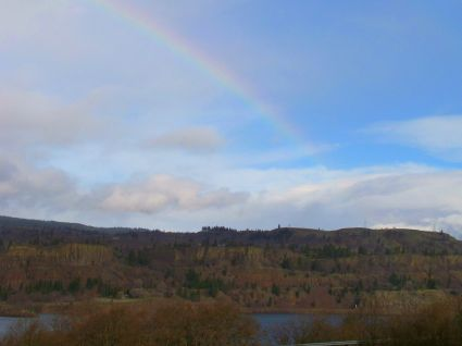 Rainbow over the Columbia River Gourge in Oregon by the Author