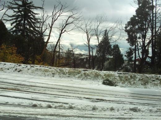 Beautiful snow on the mountain.