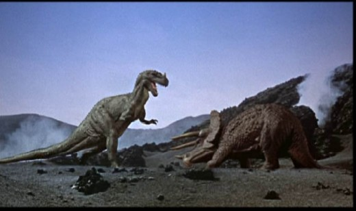 Ceratosaurus versus Triceratops; One Million Years BC