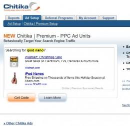 Chitika Premium Ad Setup