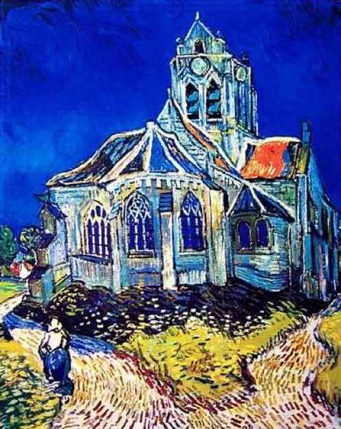 Van Gogh Painting: The Church of Auvers (8)