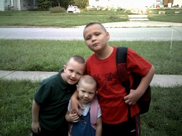 My three little ones, Travis, Loree and Marc Anthony (from left to right)