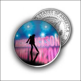 Michael Jackson Silver Eagle half dollar