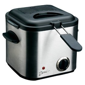 Stainless steel mini deep fat fryer