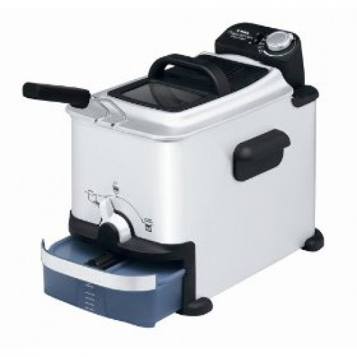EZ Clean stainless steel mini deep fat fryer