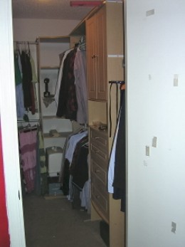 Closet after. Not bad for a weekends work.
